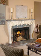 finished fireplace mantel
